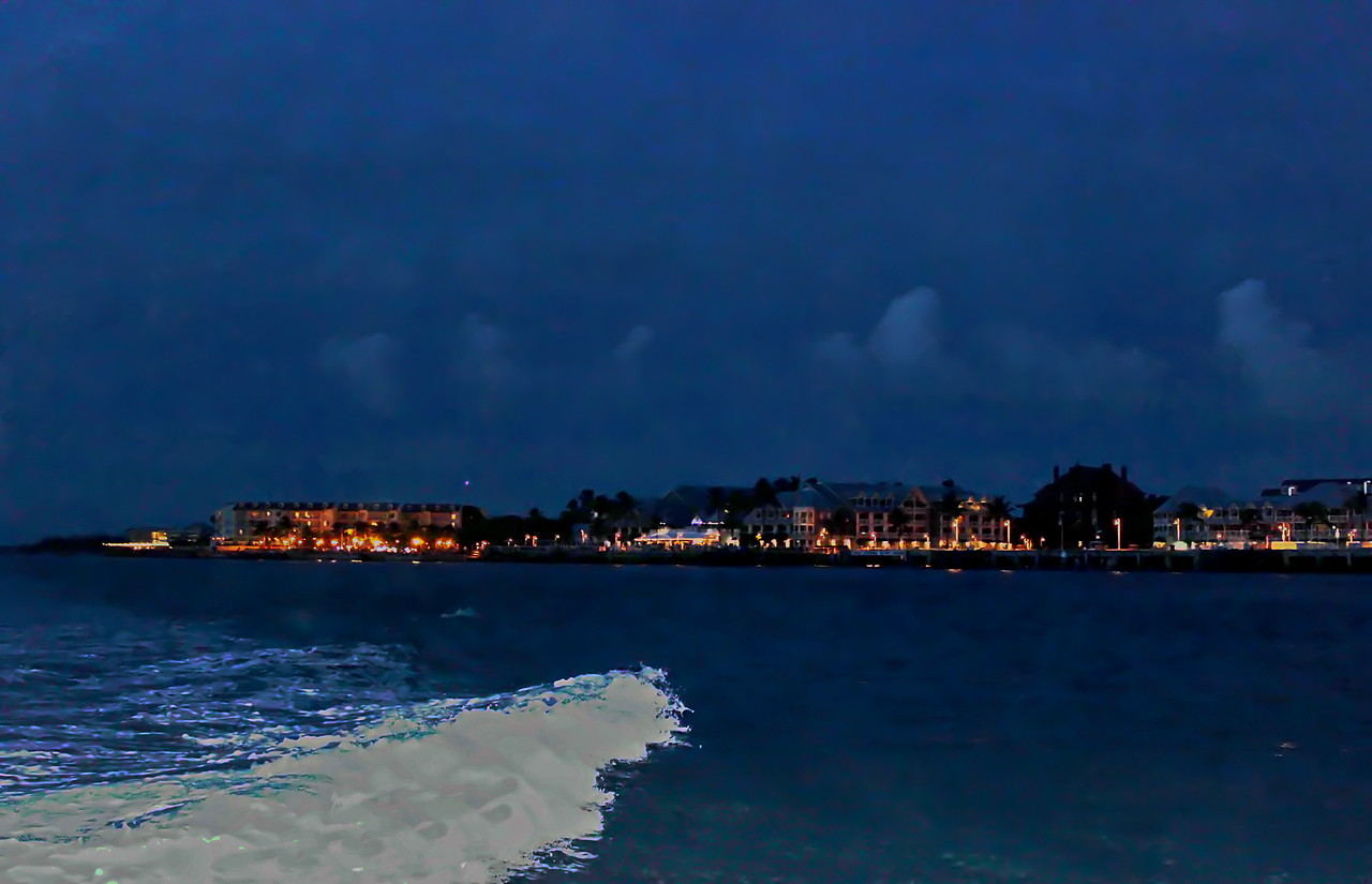 Mallory Square and Sunset Pier at Sundown