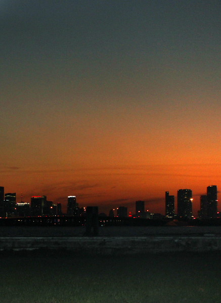 Miami Sunset from Biscayne Bay