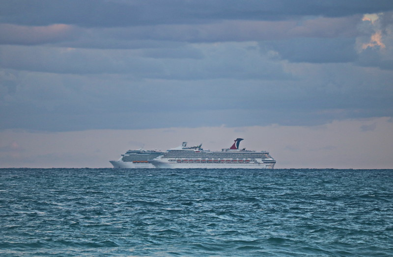 Are the Cruise Ships Racing?