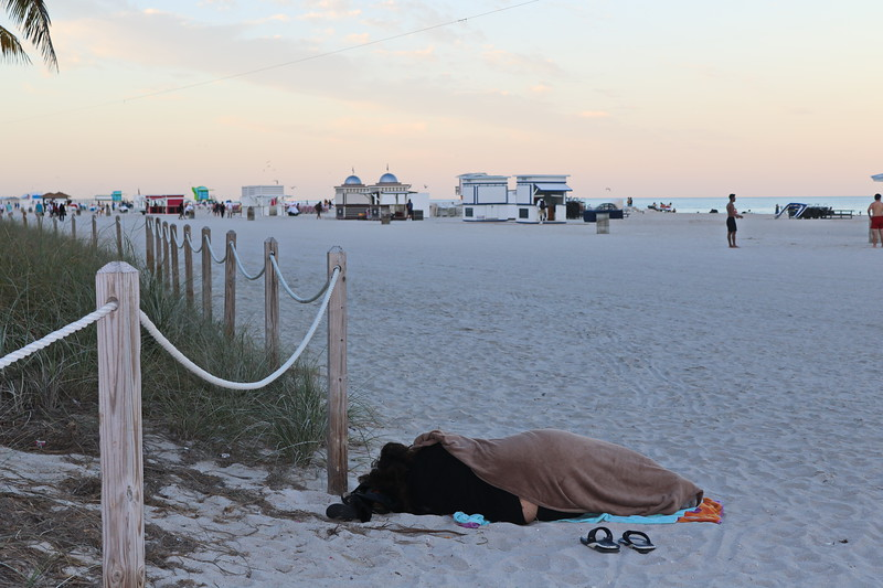 Homeless on the Beach