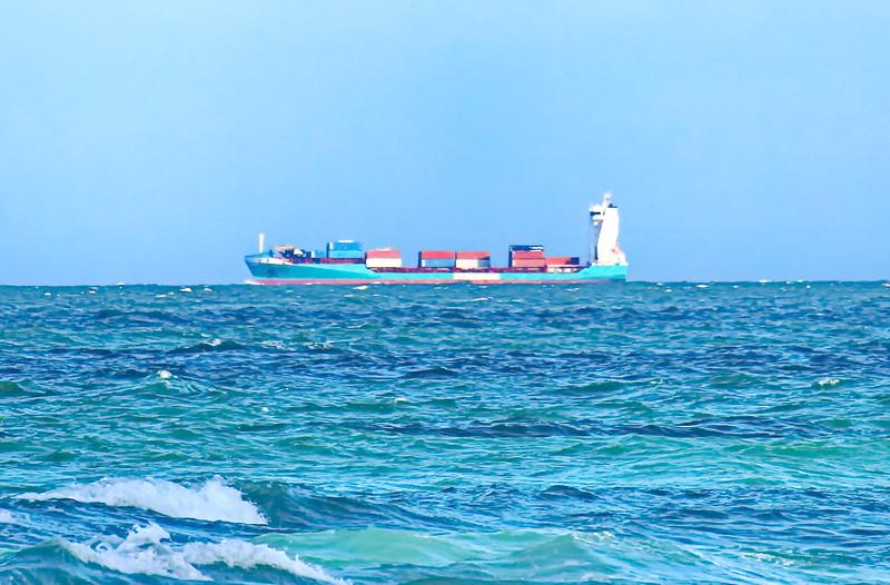 Cargo Ship in the Shipping Lane