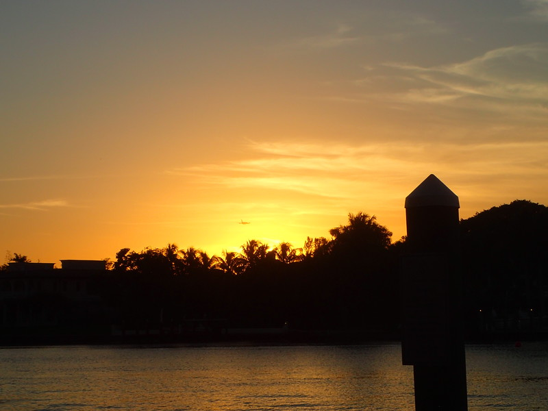 Sunset over the Intracoastal Waterway