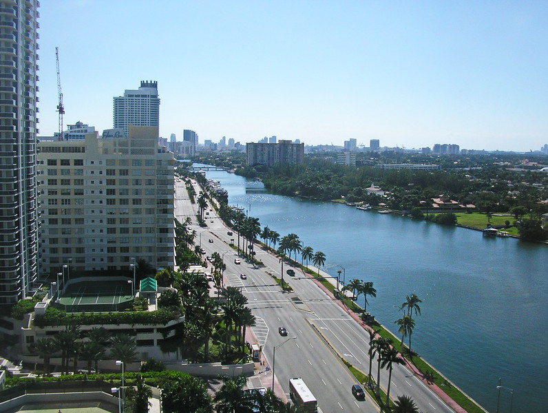 Collins Avenue and the Intercoastal Waterway