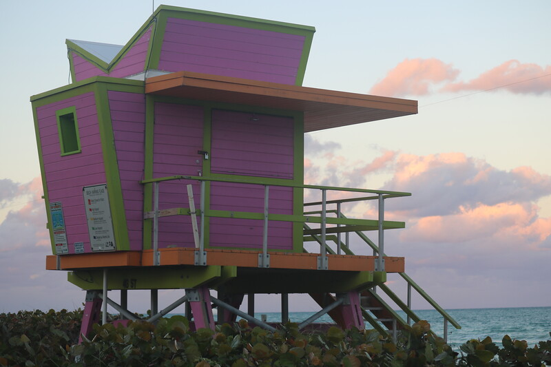Pink LIfeguard Station