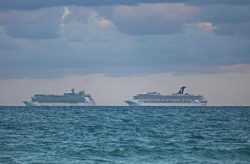 Cruise Ships on the Move