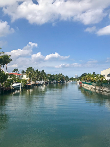 Canal in Miami Beach