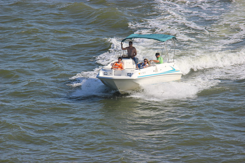Speed Boat Approaching the Julia Tuttle Causeway