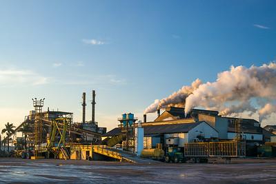 closeup sugar refinery