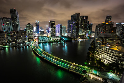 Miami seen from Brickell Key