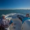 Roz & Susan in boat Boca Ciega Bay