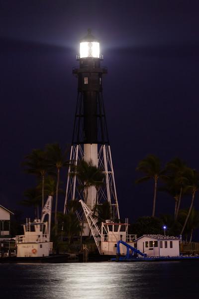Hillsboro Inlet Lighthouse at Night