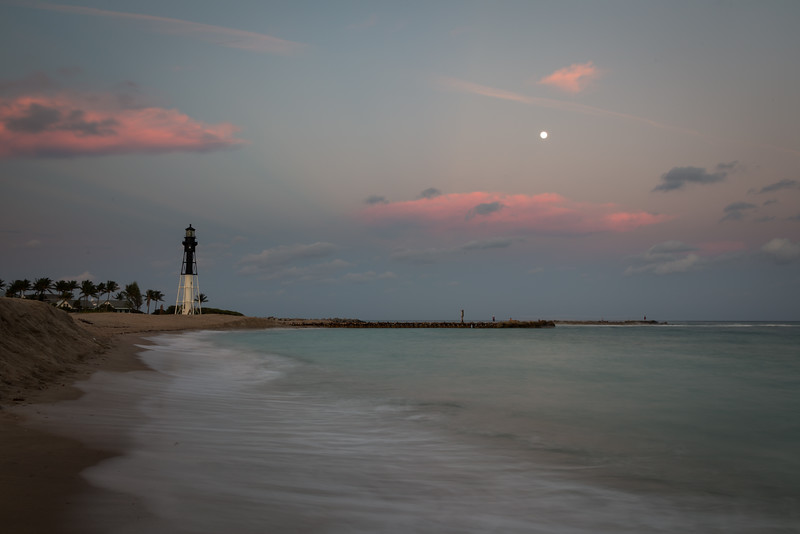 Moon over Hillsboro Inlet