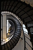 219 steps spiral up the tower of the St. Augustine Light. Anastasia Island, FL<br /> <br /> FL-080625-0122