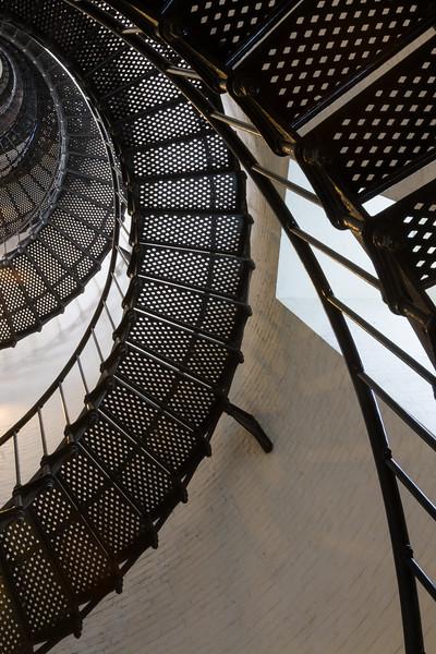 219 steps spiral up the tower of the St. Augustine Light. Anastasia Island, FL<br /> <br /> FL-080625-0122
