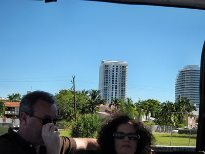 Fort Lauderdale Water Taxi -- That's my hotel the Fort Lauderdale Hilton Beach Resort in center back