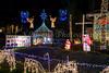 Christmas light display at the Hyatt home near Fort Lauderdale, Florida, USA.