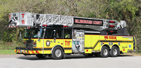 Truck 11.  2006 E-One Cyclone.  2000 / 300.  95' Tower