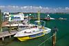 Parasailing boat at the quaint fishing village of John's Pass, Florida, USA.