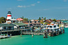 The quaint historic fishing village of Johns Pass, Florida, USA.