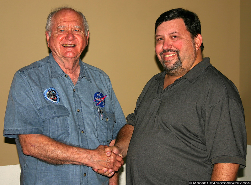 Lunch with NASA Astronaut William Pogue, a veteran of Skylab 4, and a former USAF pilot who flew with the Thunderbirds.