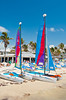 Smathers Beach and sailboats at Key West, Florida, USA.