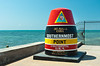 The Southernmost Point monument marker in Key West, Florida, USA.