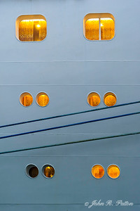 Cruise ship windows.