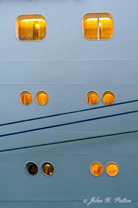 Cruise ship windows.