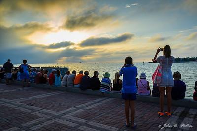 Sunset watching tourists