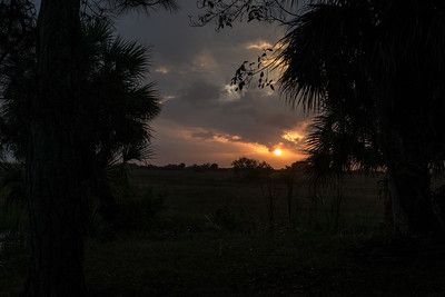 Sunset at Loxahatchee National Wildlife Refuge, Florida