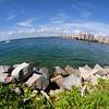 Fisheye view of Fisher Island