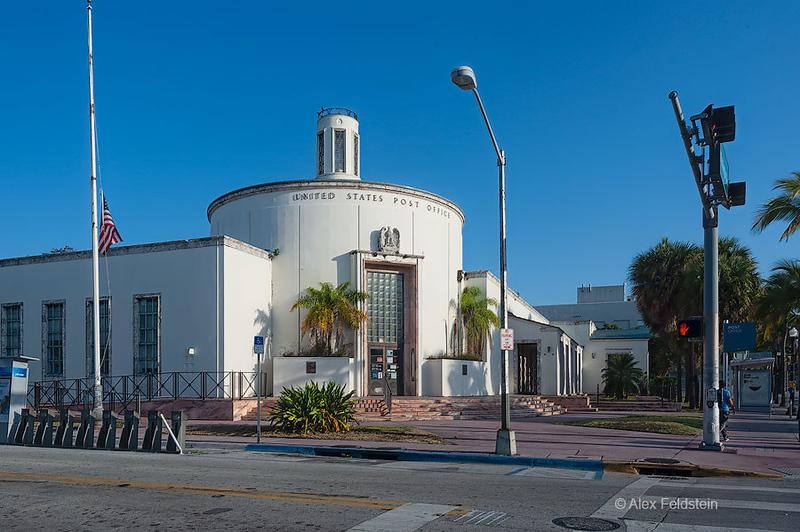 Old Art-Deco Post Office in Miami Beach