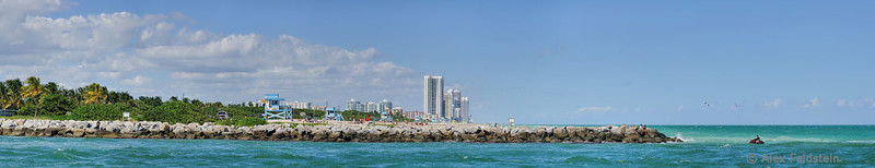 Haulover and Sunny Isles Beach<br /> 7-shot pano (reduced)