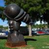 Sculpture on Washington Ave., Miami Beach, by the Jackie Gleason Theatre