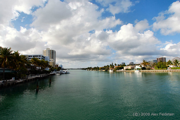 Bay Harbor on the left, Bal Harbour on the right