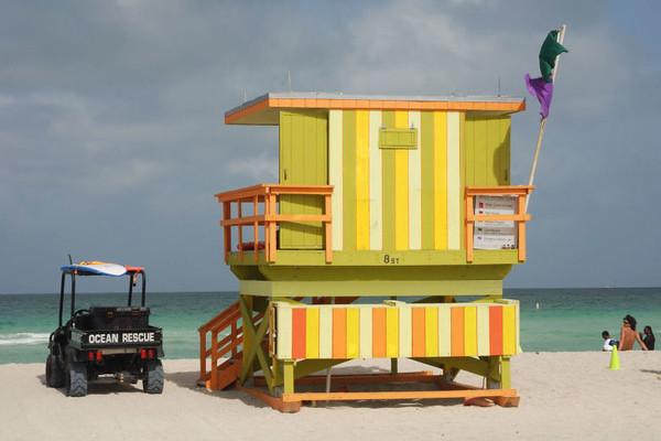 Miami Beach lifeguard shack