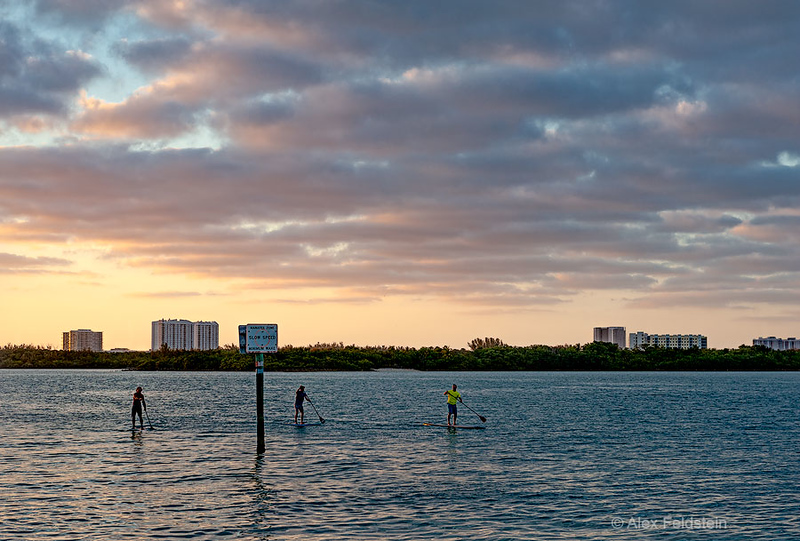 Late summer afternoon in Bay Harbor Islands, FL