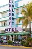The Art Deco historical district of Miami Beach, Florida, USA.