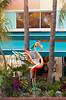 A flamingo sculpture in the Art Deco historical district of Miami Beach, Florida, USA.
