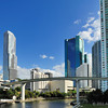 Downtown Miami - Miami River at the Metromover crossing<br /> Brickell on  the River on the right<br /> Wells Fargo and Miami Knight Center - center-right<br /> Miami Tower on the left