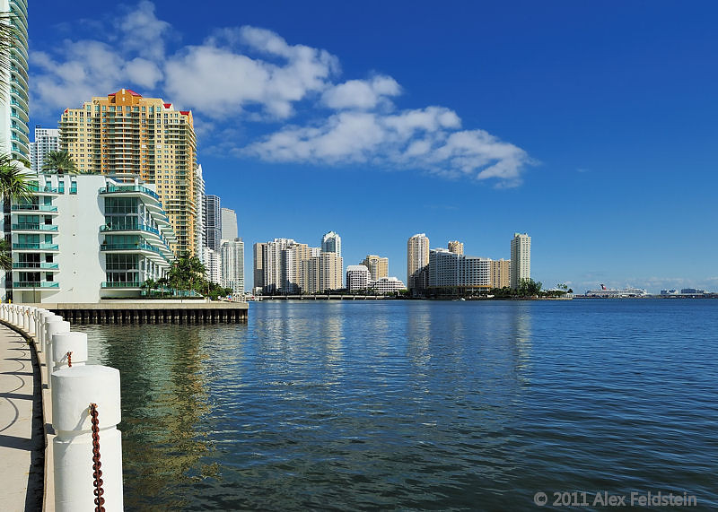 Brickell Key in the distance.