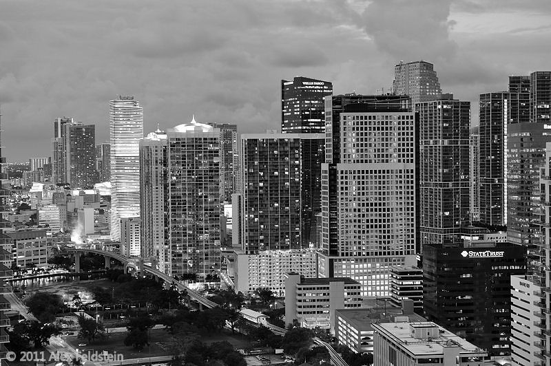 Brickell Ave. and downtown