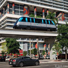 Metromover on Biscayne Blvd downtown