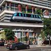 Metromover on Biscayne Blvd downtown