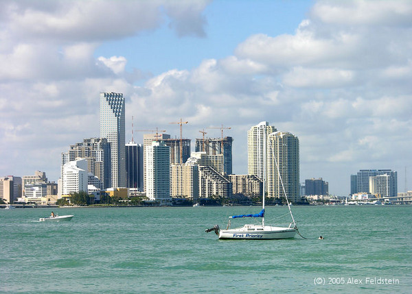 Downtown Miami - view from Key Biscayne
