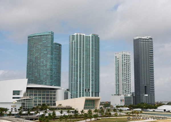 Downtown view. American Airlines Arena on the left