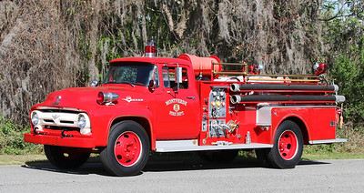 Retired.  1956 Ford F600 / Seagrave.  500GPM