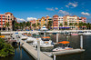 The marina at the Bayfront shopping and fine dining complex in Naples, Florida.