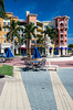 The Bayfront shopping and fine dining complex in Naples, Florida, USA.