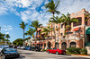 The fifth street shopping area of Naples, Florida, USA.